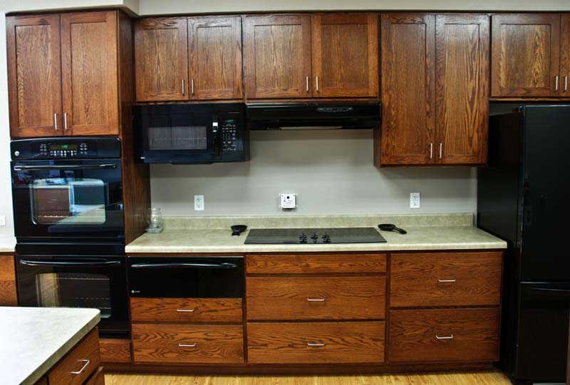 Commercial Kitchen Cabinets Wood: Red Oak